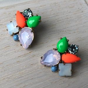 J.Crew Multicolor Statement Stud Earrings